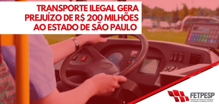 Transporte ilegal gera prejuízo de R$ 200 milhões ao Estado de São Paulo