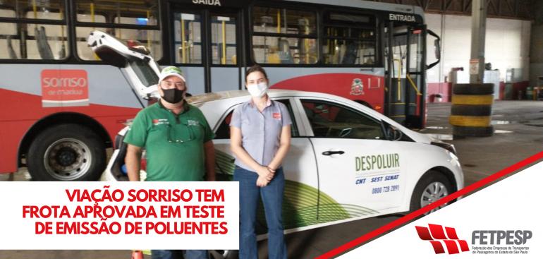 VIAÇÃO SORRISO TEM FROTA APROVADA EM TESTE DE EMISSÃO DE POLUENTES