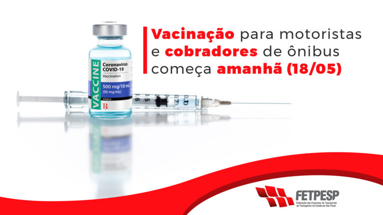 Lembrete vacinação motoristas e cobradores
