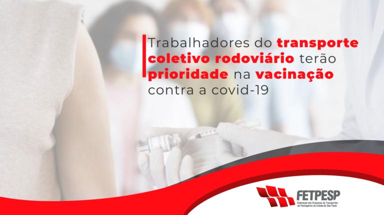 vacinação trabalhadores do transporte